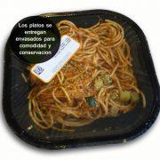 Espaguetis con pollo poblano y cilantro