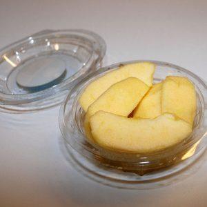 Fruta pelada manzana