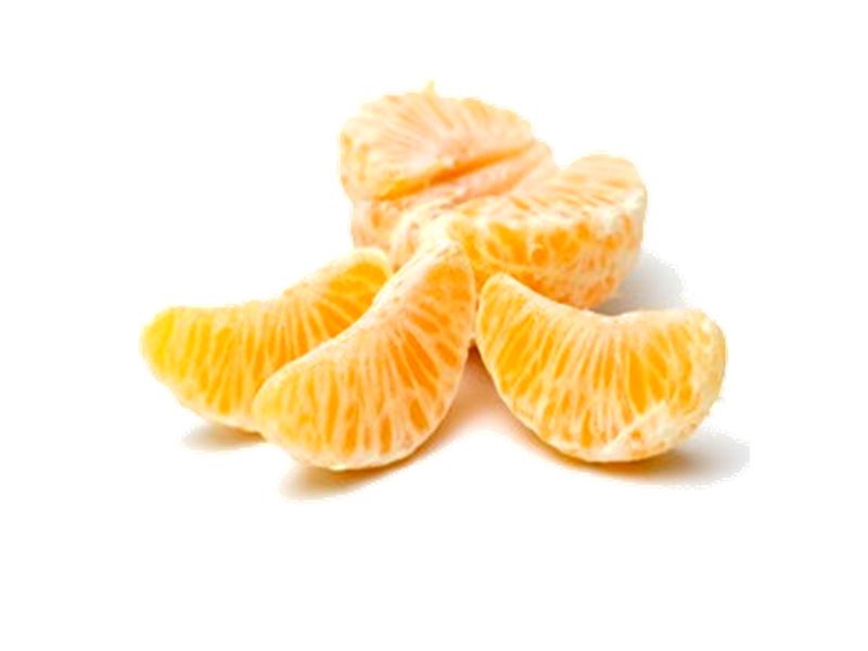 Fruta pelada mandarina