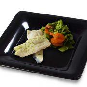 Merluza al vapor con verduras