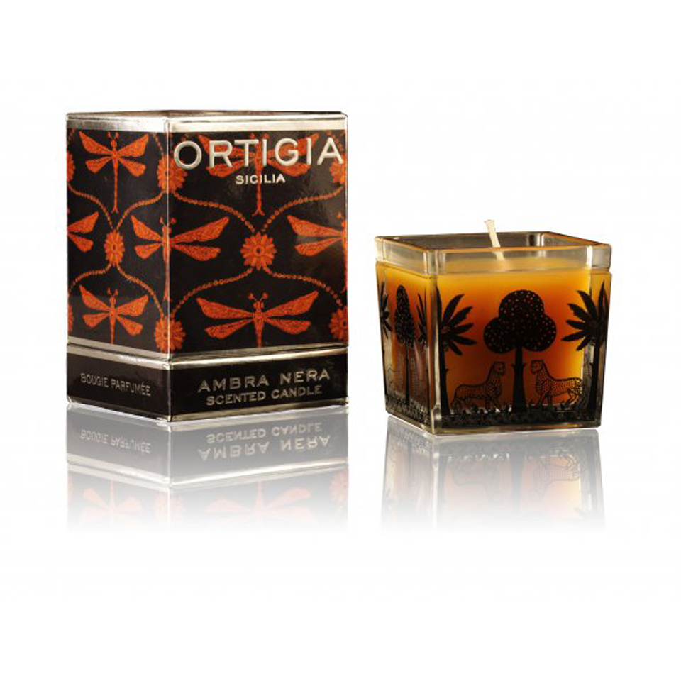 Ortigia Ambra Nera Square Candle