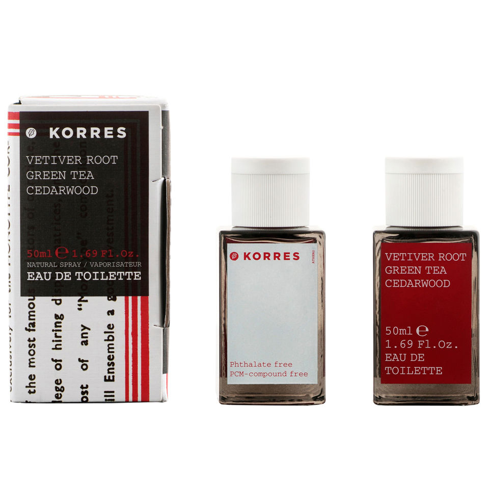 Eau de toilette Korres Vetiver Root Green Tea Cedarwood 50ml