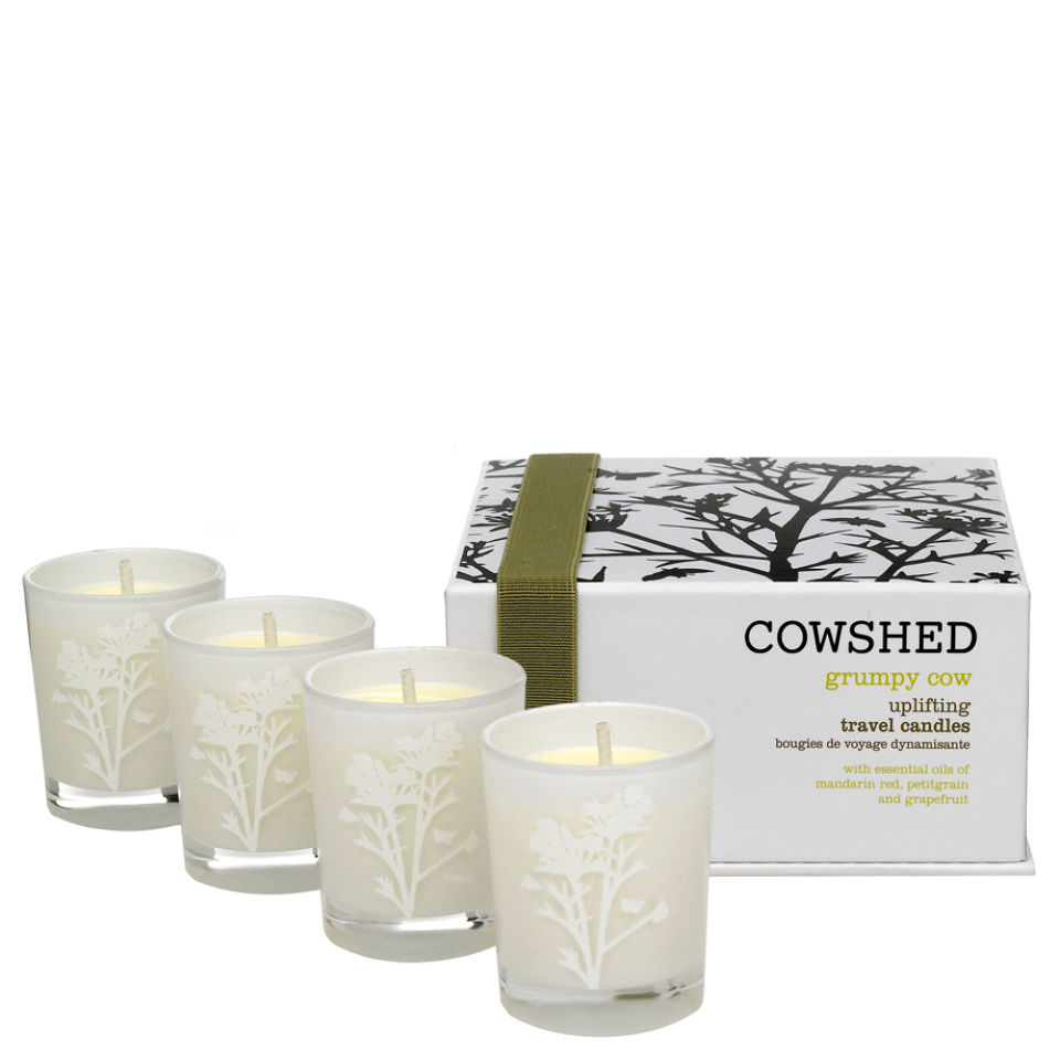Cowshed Grumpy Cow Uplifting Travel Candles