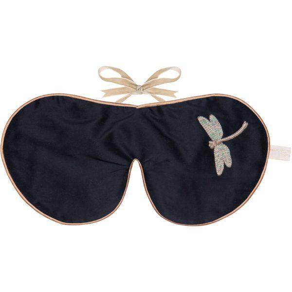 Holistic Silk Lavender Eye Mask - Black Dragonfly
