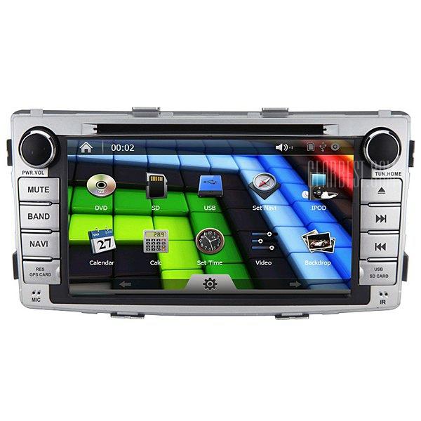 MX-8621J de 6,95 pulgadas, pantalla tactil de TV analogica y funciones del ipod compatible GPS coche reproductor de DVD para Toyota Hilux con funcion de control de volante de direccion
