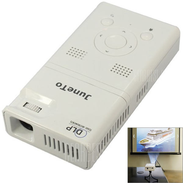 LZ – H100 Android 4.1 DLP 90lm digital de bolsillo de tamaño Mini proyector LED Blanco con 4GB/Bluetooth