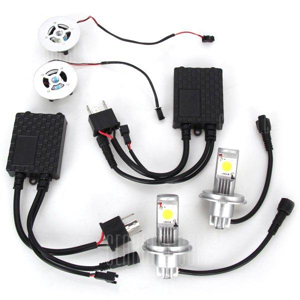 H4 15 – LED 15W 1450LM 6500K Luz trasera del coche de luz blanca intermitente de la luz de marcha atras (10 ~ 30V)