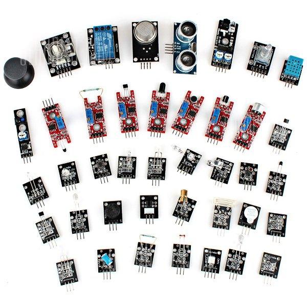 40 Tipos de modulo sensor Kit placa Arduino Board para aprendizaje de bricolaje