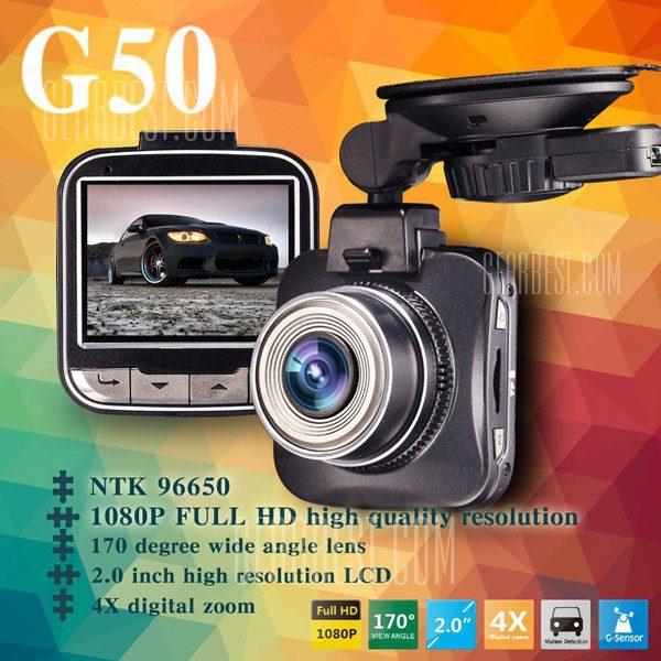G50 Domo 1080P FHD DVR coche Dash Cam 16,0 MP de resolucion video de 170 grados Lente gran angular G - sensor