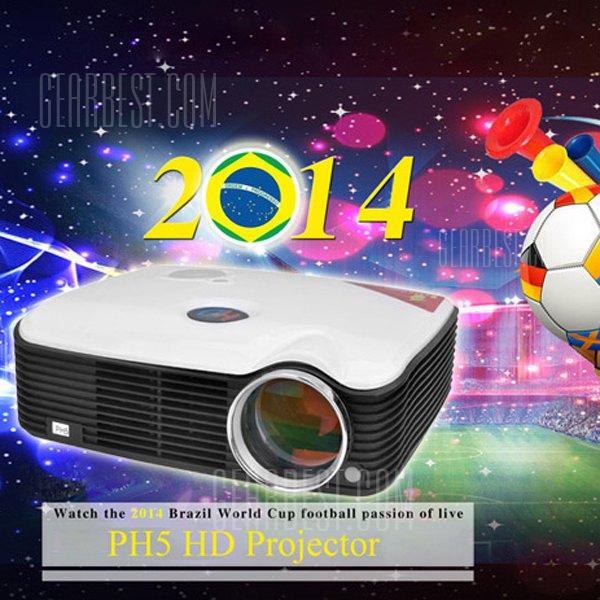 STA - ProHome PH5 de 2500 lumenes proyector LED Flip 360 grados con HDMI entradas USB enchufe para UE