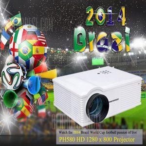PH580 LCD 3200 lumens de contraste de 2000:1 proyector LED admite HDMI TV USB VGA AV - RU