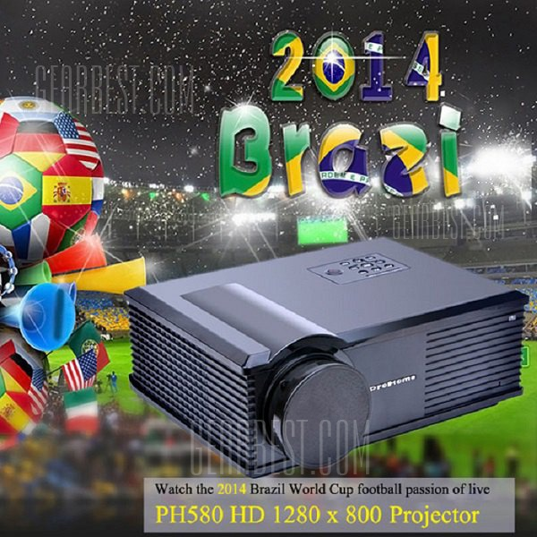 PH580 LCD 3200 lumens de contraste de 2000:1 proyector LED admite HDMI TV USB VGA AV (AU Plug)