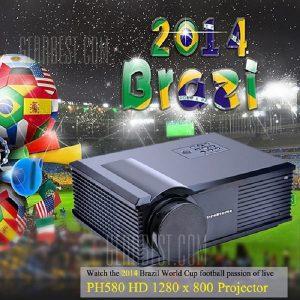 PH580 LCD 3200 lumens de contraste de 2000:1 proyector LED admite HDMI TV USB VGA AV (RU)