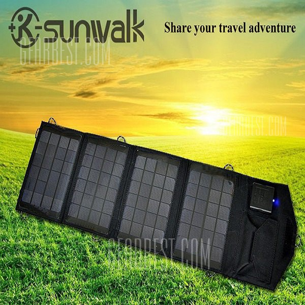 SUNWALK-140 14W Cargador solar portatil plegable exterior Pack Alimentacion electrica movil