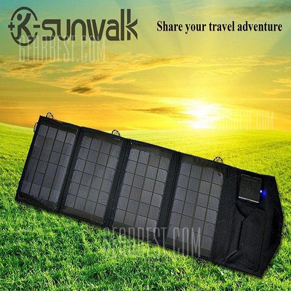 SUNWALK-140 14W Cargador solar portatil plegable exterior Pack Alimentacion electrica movil