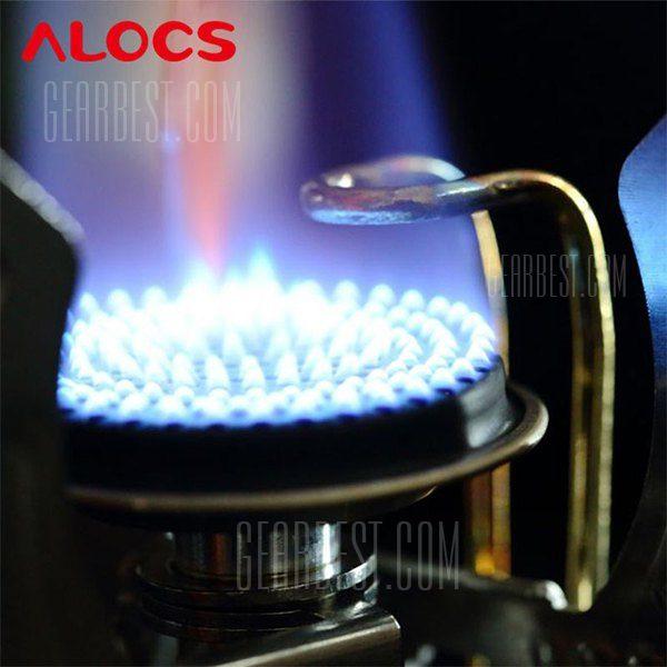 ALOCS CS - G11 aleta dividida plegables ultraligeros estufa Gas Horno quemador para mochileros Cookout exterior