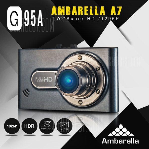 DOME G95A de 2.7 pulgadas de pantalla LCD HD 1296P7LA50 Ambarella un DVR coche videocamara