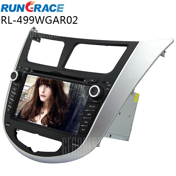- 499WGAR Rungrace RL02 de 7 pulgadas de ISDB-T En - Dash coche reproductor de DVD para Hyundai Verna