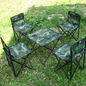 5 en 1 AOTU Exterior Conjunto mesa y silla plegable