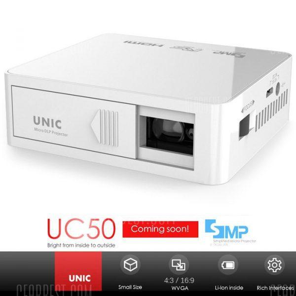 El CINU de UC50 proyector DLP
