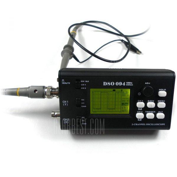 09401 10MHz Osciloscopio Dual-Chanel LCD