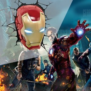 Luz de pared 3D Avengers Iron Man Head