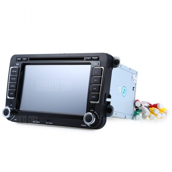 7 pulgadas 16GB Reproductor de video estereo de DVD del coche de navegacion GPS para VW