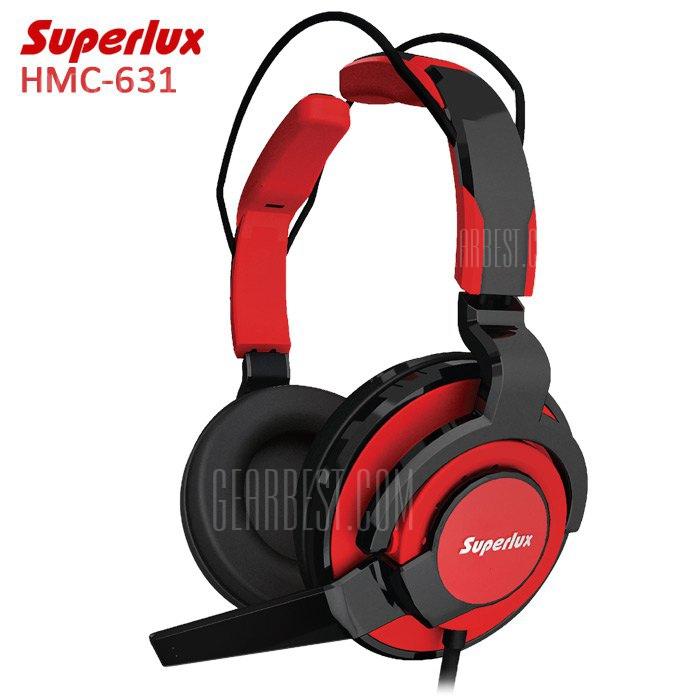 Superlux HMC-631 de grado profesional auriculares con microfono para juegos de PC