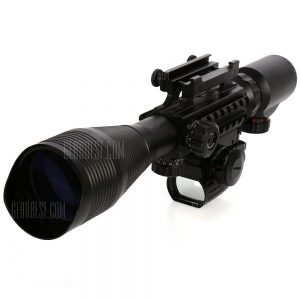 4 tactico - 12 x 50EG rifle scope iluminada con laser rojo y Red Dot Sight de reticula rojo / verde monte