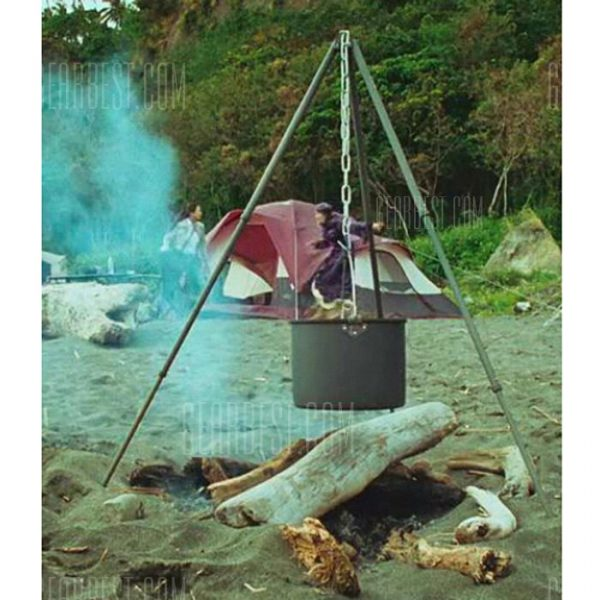 ALOCS CW-RT01 15L Camping Hung Olla con mango plegable