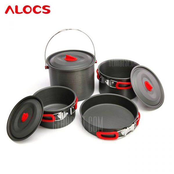 ALOCS CW-RT07 7pcs utensilios de cocina establecido Camping Pot