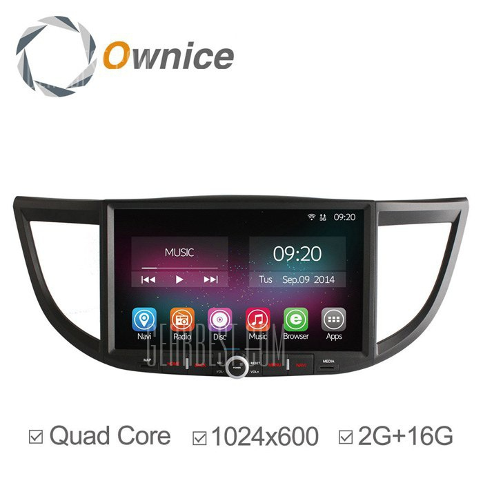 Ownice C200-OL-1645B Android 4.4.2 10,2 pulgadas de coche GPS Reproductor multimedia