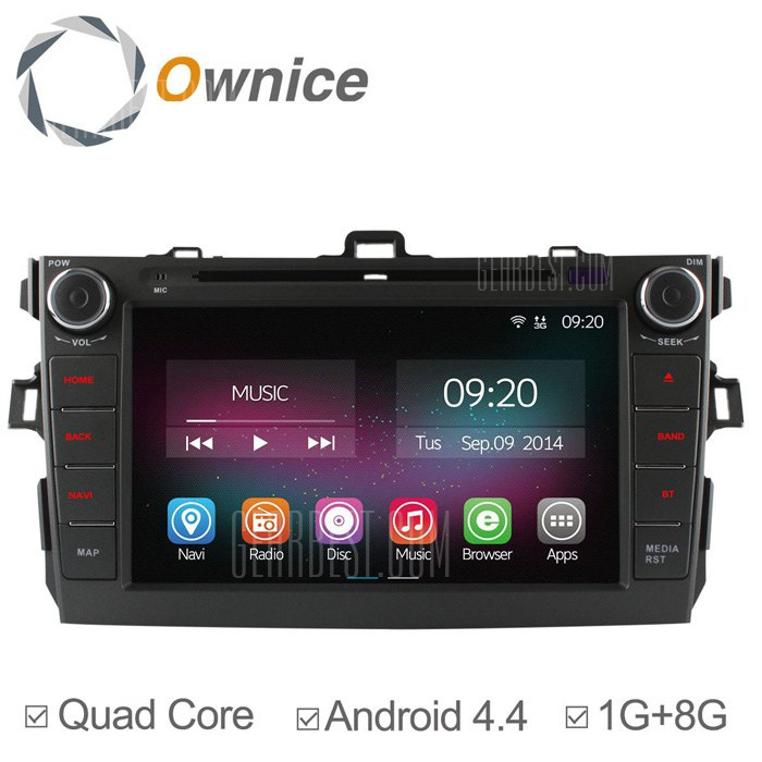 Ownice-OL-8602C200 un Android 4.4.2 8,0 pulgadas coche DVD GPS Reproductor multimedia