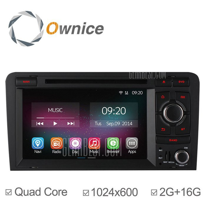 Ownice C200-OL-7966B Android 4.4.2 7.0 coche DVD GPS Reproductor multimedia