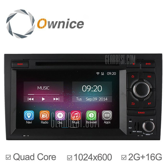 Ownice C200-OL-7967B Android 4.4.2 7.0 coche DVD GPS Reproductor multimedia
