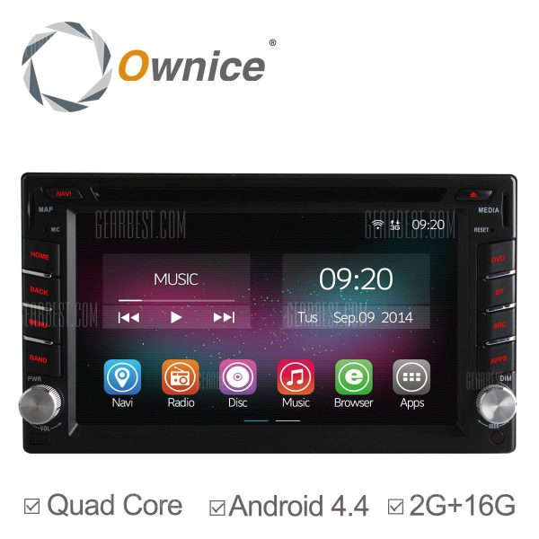 C200: Ownice OL - 6666B Android 4.4.2 6.2 pulgadas coche DVD GPS Reproductor multimedia