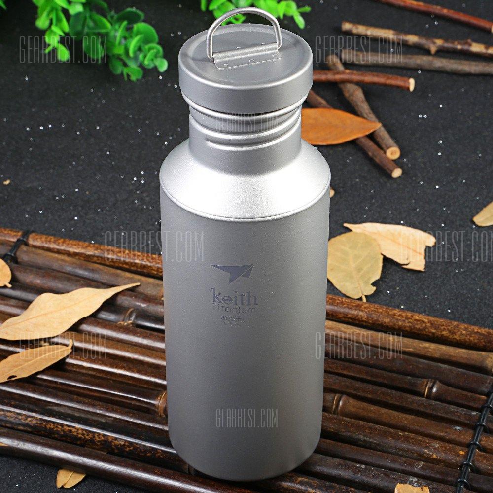 Keith Ti31 550mL botella deporte de titanio para el exterior