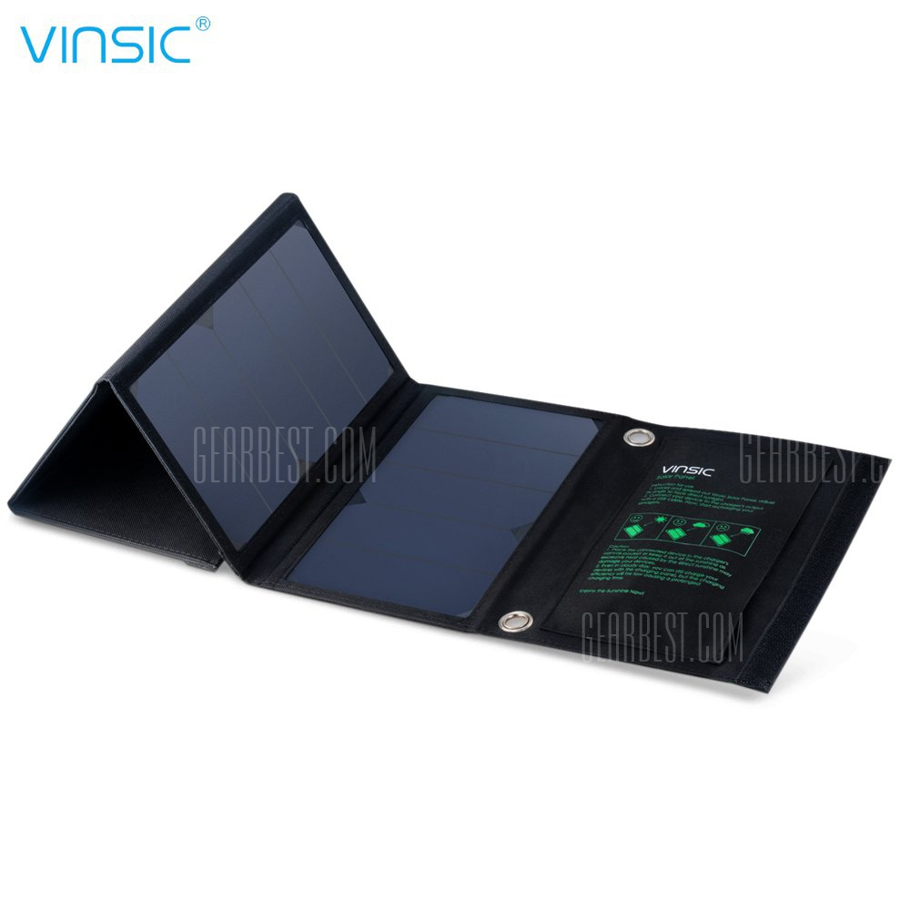 VINSIC VSSP103 Puerto Dual portatil Cargador Panel solar plegable