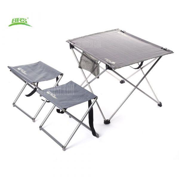 BRS - T03 3pcs / Set portatil Oxford tejido exterior taburetes mesa plegable