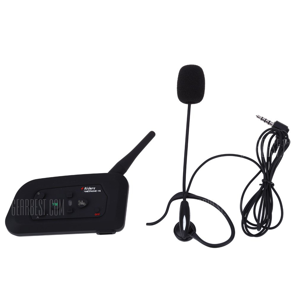 V4C 600M full-duplex bicicleta interfono Bluetooth con FM