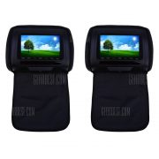 Emparejado XD783 de 7 pulgadas de 800 x 480 Pantalla LCD Backseat coche reproductor de DVD