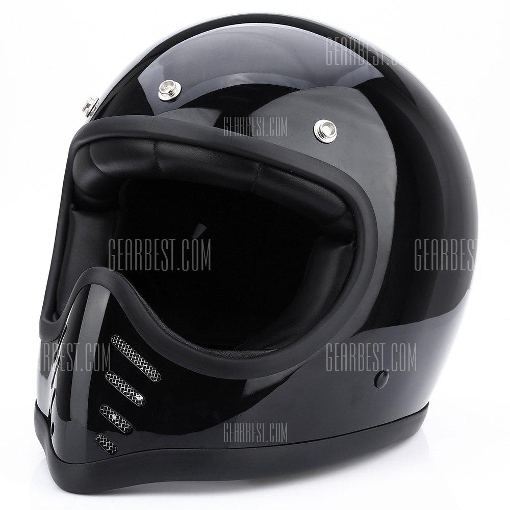 La seguridad de los ciclomotores Retro cascos de cara completa