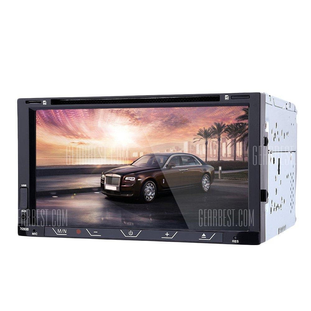 7080B 7 pulgadas reproductor DVD estereo de audio para coche