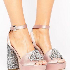 Sandalias con plataforma y adornos HOLLYWOOD en ofertas calzado