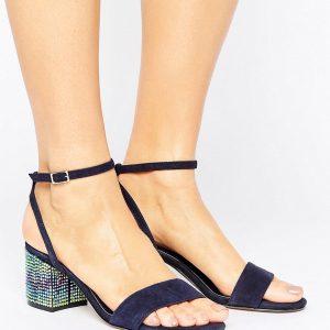 Sandalias de ante con gemas estilo canicas y tacon en bloque de Dune