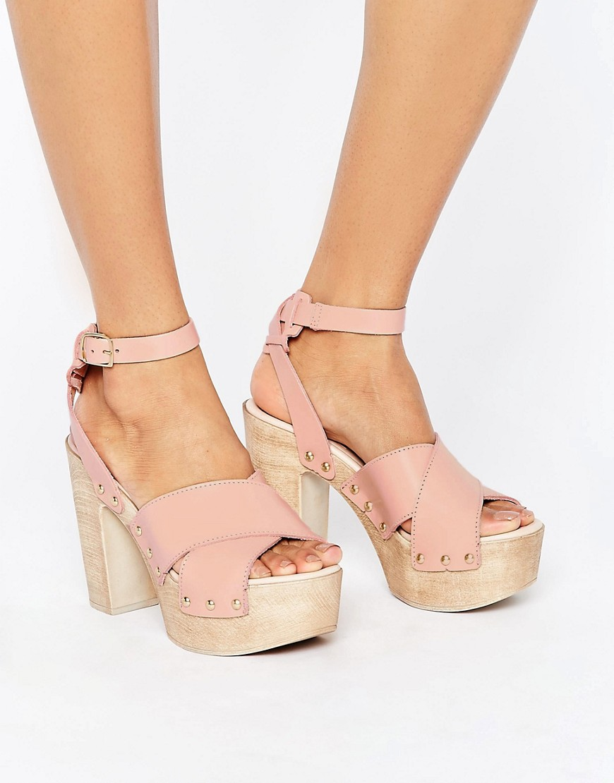 Sandalias de tacon de cuero TOUCHED en ofertas calzado