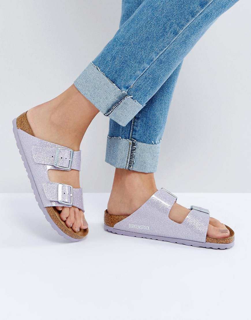 Sandalias planas Arizona Lavender Magic Galaxy de Birkenstock