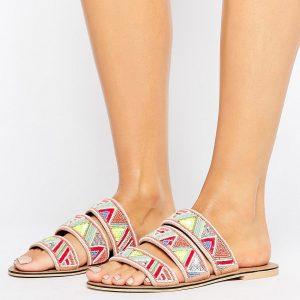 Sandalias planas con cuentas Fabia de Faith