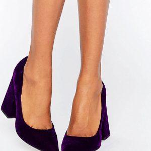 Tacones altos en punta de terciopelo PIER en ofertas calzado