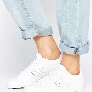 Zapatillas bajas de cuero blanco Agate de Le Coq Sportif